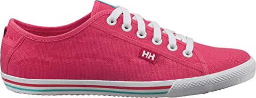 Helly Hansen Oslo Fjord Canvas, Sneakers Basses Femme Rosa / Blanco (241 Pink Shake / Off White / M)