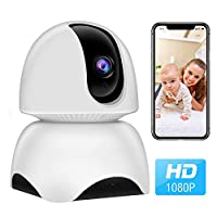 WiFi Camera, 1080P Wireless IP Home Security Surveillance Camera for Pet/Nanny/Elder/Baby Monitor with Pan/Tilt/Zoom, Two Way Audio, Night Vision and Motion Detection