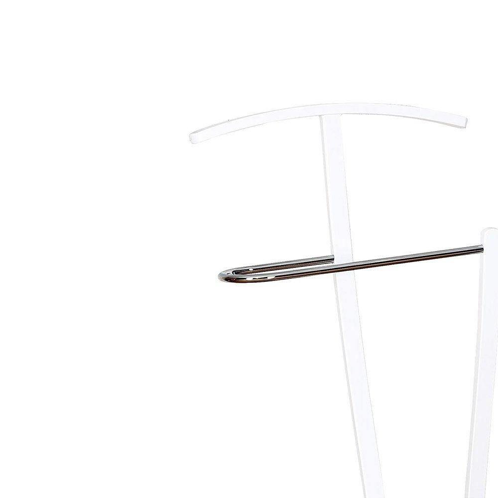 Legno Multistrato//Metallo Cromato 45x30x145 cm Cribel Home Servetto Bianco//Rovere