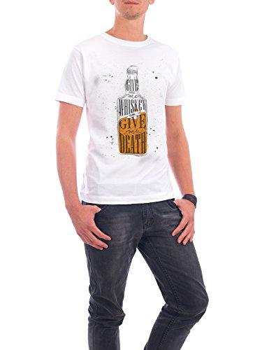 """Design T-Shirt Männer Continental Cotton """"Alter Whisky"""" - stylisches Shirt Essen & Trinken von Anna Kozlenko Weiß"""