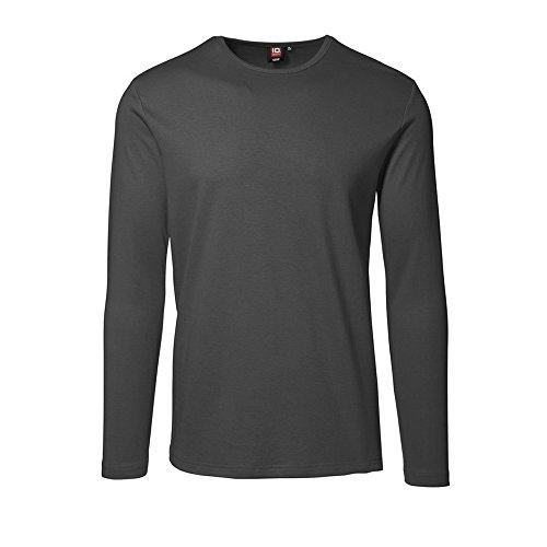 ID inter Lock T-shirt da uomo a maniche lunghe blu navy