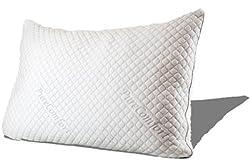 PureComfort - Internet's Most Comfortable Pillow | Adjustable Loft | Neck & Back Pain Relief | CertiPUR-US Premium Memory Foam Fill | Hypoallergenic | 5Yr Warranty | 100 Night Trial ... (Queen)