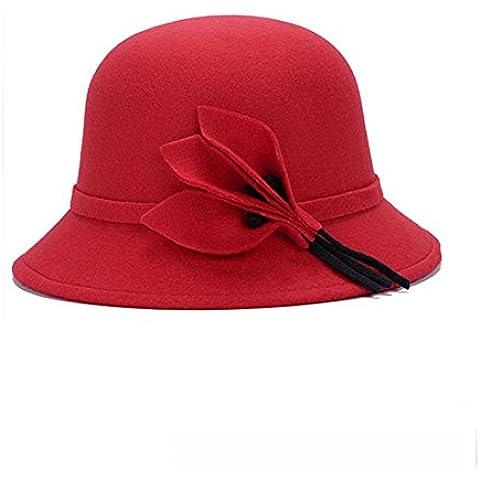 B-B Women's fashion warm Boonie hat with flower