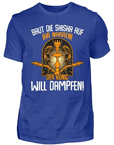 Kleidungskulisse Baut Die Shisha Auf Ihr Narren Der König Will Dampfen Ideales Geschenk für Shisha Raucher - Herren Premiumshirt -3XL-Royal Blau