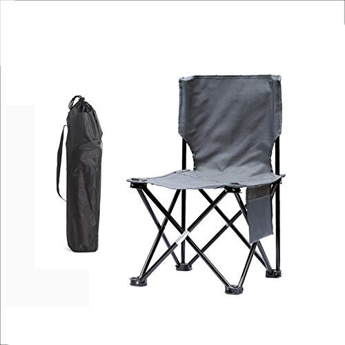 YUWJ Camping hocker Falten tragbare licht Camp hocker im freien billig tragbaren klappstuhl geeignet für Strand Grill Reise Picknick,Gray,Single