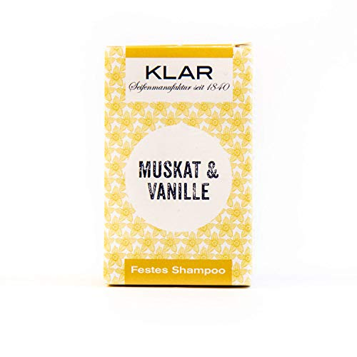 Klar Seifen festes Shampoo Muskat & Vanille, 100 g -