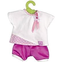 Nenuco - Camiseta rosa y pantalón corto morado, para muñeco de 35 cm (Famosa 700012823B)