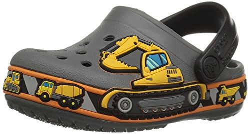 Crocs Crocband Fun Lab Graphic Clog Kids, Unisex - Kinder Clogs, Grau (Slate Grey), 28/29 EU