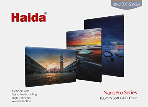 Haida NanoPro 100 mm MC Soft Graduated Neutral Density ND4 x ND 0.6 Optischer Glas-Filter 100 2 Stop GND (Lee Filterhalter 4x6)