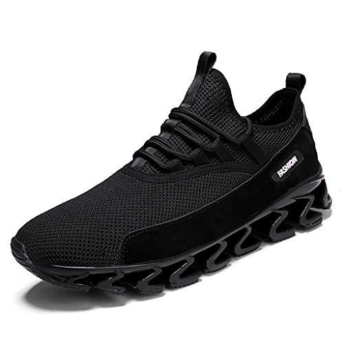 Freizeitschuhe Herren Laufschuhe,Dasongff Atmungsaktiv Turnschuhe Sportschuhe,Outdoor Shock Absorbing Straßenlaufschuhe Fitnessschuhe Schnürer Running Shoes