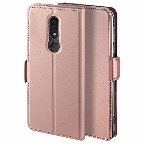 HoneyCase für Handyhülle Nokia 4.2 Hülle Premium Leder Flip Schutzhülle für Nokia 4.2 Tasche, Rose Gold