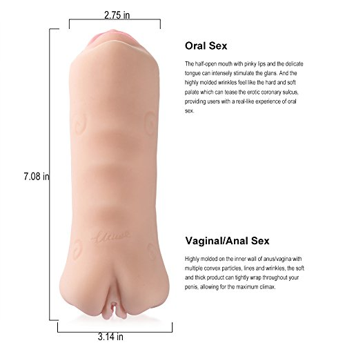 Utimi Vagina Liebespuppen Anal Masturbator 3D Gesicht Sexspielzeug Männer Masturbator - 4