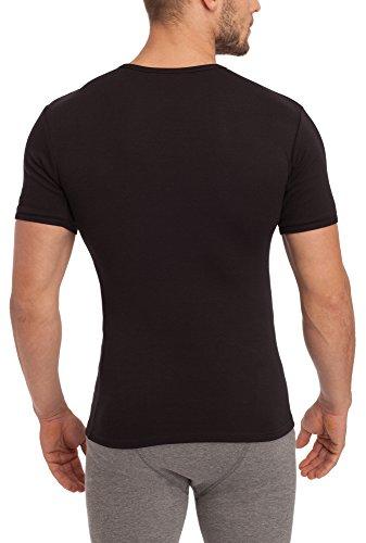 Sesto Senso Herren kurzarm Unterhemd 112 Schwarz