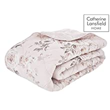 Catherine Lansfield Canterbury Easy Care Bedspread Blush 220x230cm