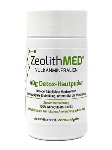 Zeolith MED 40g Detox-Hautpuder, 1er Pack (1 x 1 Stück)