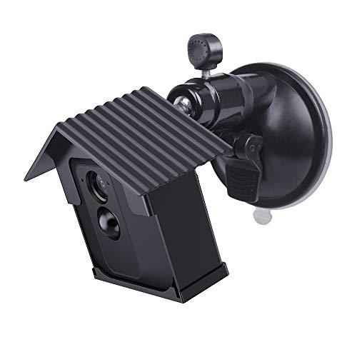 HOLACA Wandhalterung mit Saugnapfhalterung und Abdeckung, kompatibel mit Blink XT BLINK XT 2- wetterfest, 360 Grad Schutz, verstellbare Halterung in glatter Oberfläche, schwarz -