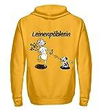 Shirtee Cocoloros Design: Die Leinenpöblerin - Unisex Kapuzenpullover Hoodie -XL-Sonnengelb