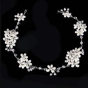 CYY Braut Kopfschmuck Perle Wasser Diamant Haar Ornamente hochzeitskleid zubehör Haarband Kinder Haar zubehör