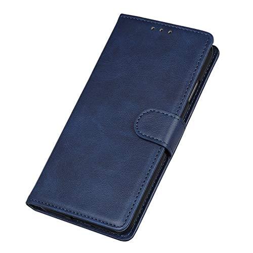 Capa HAOYE para Xiaomi Redmi 8A, [Flip Stand / Slot para cartão] Capa Flip Premium Capa de Couro PU À Prova de Choque, Capa de Livro com Suporte / Magnética / Carteira, Azul