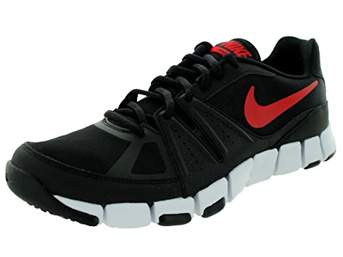 Nike - Nike Flex Show Tr 3 Scarpe Sportive Uomo Nere Pelle Tela 684701 Bianco-Nero-Rosso