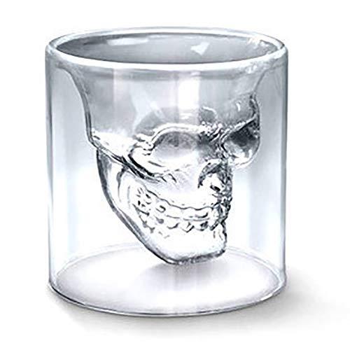 JUZEN Doppelglas Weinglas Whisky Kreativer Wein Cocktail Persönlichkeit Glas Wodka Whisky Champagner-Glas,250ml