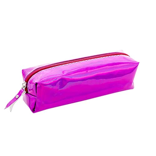 Bobopai Pencil Case, 1PC Colorful High Capacity Stationery Pen Pencil Case Cosmetic Bag Travel Makeup Bag (Purple 1) -