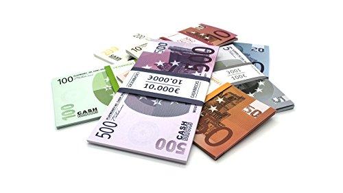 Cashbricks 7 x 25 Spielgeld Euro Scheine Bündel-Set (Kostüm Gutschein 25)