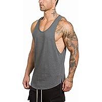 NBX Sports Fitness Running Chaleco de Secado rápido Camisa sin Mangas Transpirable Slim Hombre,UN,XL