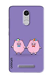 Omnam Two Pigs Enjoying Printed Designer Back Cover Case For Xiaomi Redmi Note 3