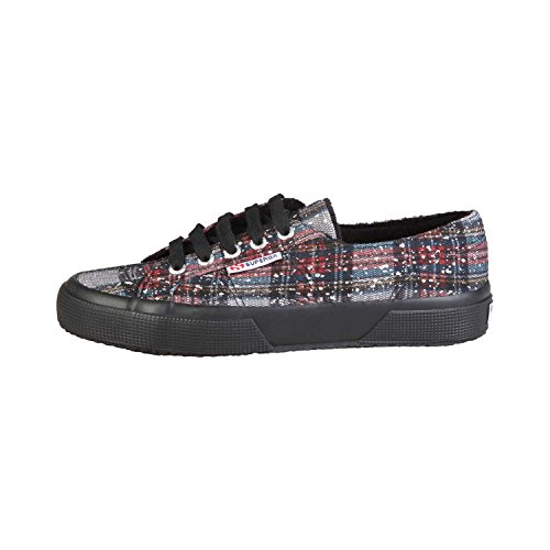 Superga 2750 Metallicmeshcheckw, Baskets Basses Femme