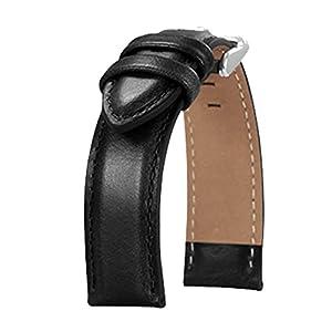 BONSTRAP Herren Leder Uhrenarmband 18mm 20mm Optionale Farbe Größe