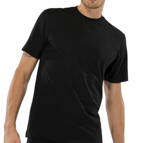 Schiesser Herren Unterhemd American T-Shirts 99 schwarz