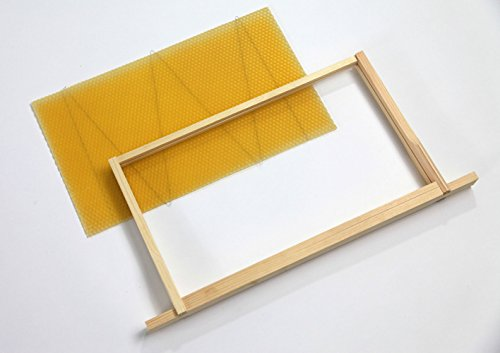 National Beehive Wired Wax Foundation Sheets and Frames (Brood x 10 pcs) Test