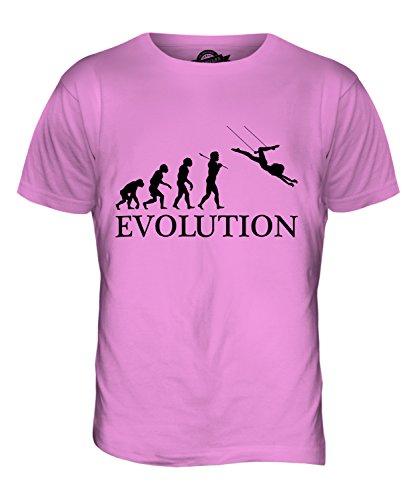 CandyMix Trapez Evolution Des Menschen Herren T Shirt Rosa