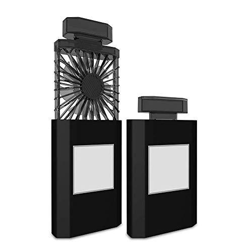 rer Mini-Lüfter, Wiederaufladbarer USB-Lüfter Für Studentenwohnheime GAOFENG (Color : Black, Size : 7.8 * 2.8 * 5.7CM) ()
