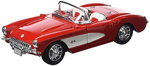 welly-29393r-chevrolet-corvette-1958-1-24-rouge