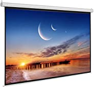 Electric Motorized Projector Screen,Home Theater 8K/4K Ultra HD Ready Projection, ELECTRIC100H,WITHOUT Remote