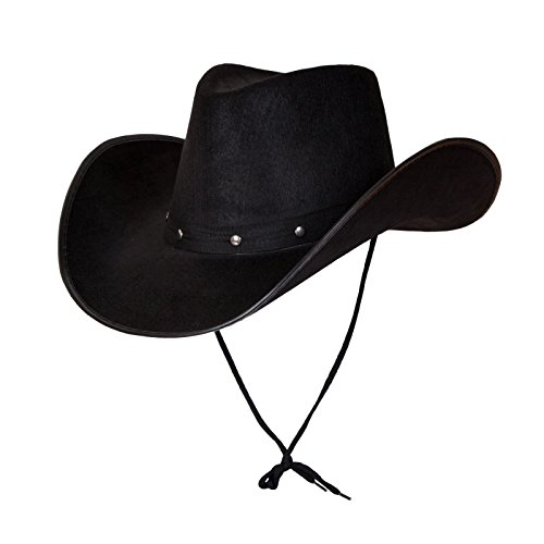 Wicked Adult Texan Country Cowboy Black Western Fancy Dress Accessory