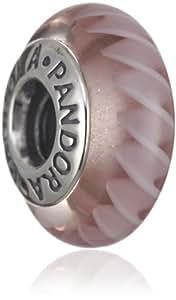 Pandora Damen-Bead  Sterling-Silber 925 Muranoglaskugel altrosa flieder KASI 79620