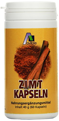 Avitale Zimt Kapseln 500 mg + Vitamin C+E, 60 Stück, 1er Pack (1 x 40 g)