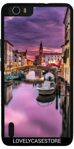 custodia-in-silicone-per-huawei-honor-6-plus-canal-visita-venezia-italia-barca-lagune-gondole