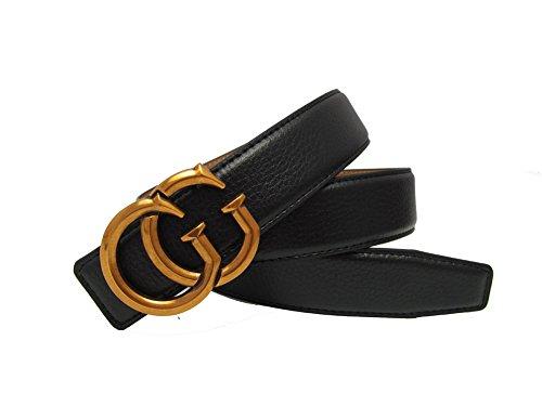 Western Women Style Leather Belt Casual Retro Buckle Belt Lady Leather Belt