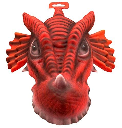 Máscara de Dragón Rojo para Fiesta con elástico XXL