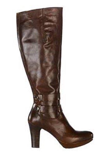 Hochwertiger Stiefel aus Nappaleder von Zinda in Cognac 35