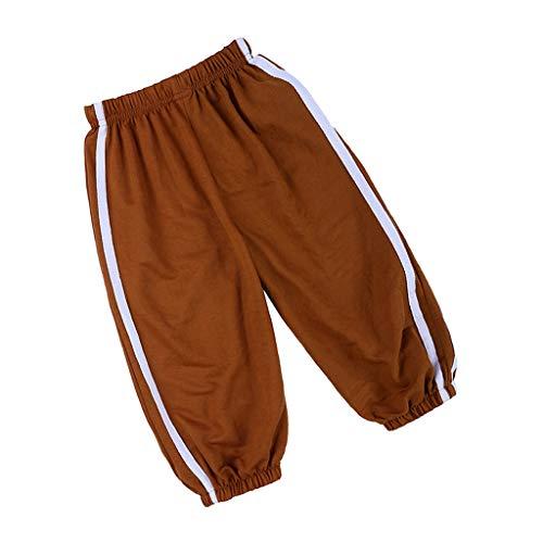 WQIANGHZI Kinder Pump-Hose aus 100% Baumwolle,Komfortable und Hochwertige Jungen-Hose mit Elastischem Bauchumschlag Jogginghose Cargo-kinder-capris