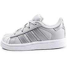 adidas Superstar I, Chaussons Mixte bébé, Gris (Grpulg/Plamet/Ftwbla 000