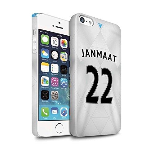 Offiziell Newcastle United FC Hülle / Glanz Snap-On Case für Apple iPhone SE / Janmaat Muster / NUFC Trikot Away 15/16 Kollektion Janmaat