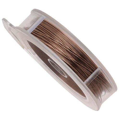 Fil en cuivre aspect laiton vieilli pour projets artistiques Calibre 24 - 18 Mètres