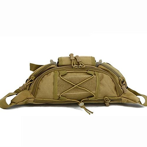Außen Unisex Hüfttasche Taktische Militärische Hüfttasche Brusttasche Khaki