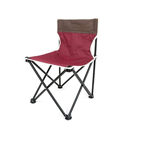 Rouille prévention résistant à l'usure anti-dérapant Chaise pliante ,Padoutdoor camping plage pêche places de pique-nique portable support lombaire pour le dos du pied-rouge 36x36x60cm(14x14x24inch)